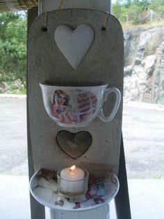 Duftlampe med kopp og skål Bottle Opener, Concrete, Cool Stuff, Candles, Driveway Entrance, Gypsum, Creative Ideas, Clay, Funny