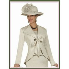 Church suit with matching hat.