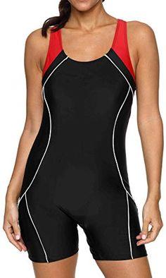 b642577bbaaf9 Women s One Piece Swimsuits Boyleg Sports Swimwear
