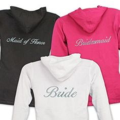 Embroidered Custom Hoodie for the Bridal Party #wedding http://www.beforetheidos.com/Embroidered-Custom-Hoodie-for-the-Bridal-Party-p/pro-e7687126x.htm