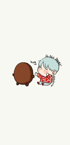 chibi shooky and Yoongi Chibi Wallpaper, Wallpaper Iphone Cute, Galaxy Wallpaper, Disney Wallpaper, Cute Wallpapers, Bts Chibi, Anime Chibi, Kawaii Anime, Suga Swag