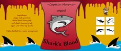 Shark's blood! oftewel lekkere rode druivensap. (ook geschikt voor een volwassenen feestje met rode wijn)  #piratenfeest