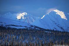 Last Sunlight on the Alaska Range