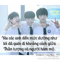 Quotes TFBOYS - By Me -Ân Ân.