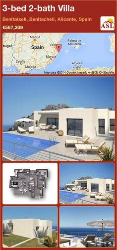 3-bed 2-bath Villa in Benitatxell, Benitachell, Alicante, Spain ►€567,209 #PropertyForSaleInSpain