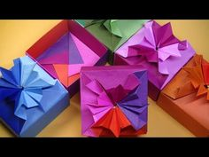 Origami Gift Box, Origami Art, Origami Boxes, Origami Box Tutorial, Christmas Diy, Christmas Decorations, Quilling, Cube, Gift Wrapping