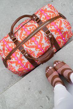 461bb5483bc8 pink and orange ikat duffle barrington captain's bag Duffle Bags, Duffle  Bag Travel, Barrington