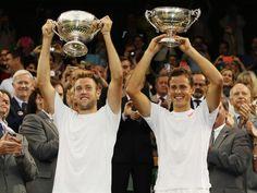 Vasek Pospisil/Jack Sock   Tennis: First time partners Jack Sock and Vasek Pospisil vann 2014 herrdubbeln över B. Bryan/M. Bryan 7-6, 6-7, 6-4, 3-6, 7-5.