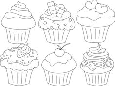 Zusammenstellung_Cupcakes Source by onebluerose Cupcake Coloring Pages, Colouring Pages, Coloring Books, Cupcake Kunst, Cupcake Art, Cupcake Painting, Cupcake Drawing, Diy And Crafts, Crafts For Kids