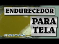 Endurecedor para tela casero - HARDENER FOR FABRIC - YouTube