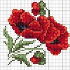 Easy Cross Stitch Patterns, Simple Cross Stitch, Beaded Cross Stitch, Cross Stitch Flowers, Cross Stitch Designs, Cross Stitch Embroidery, Embroidery Patterns, Cross Stitch Rose Pattern, Cross Stitch Cards