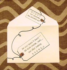 Cute way to address an envelope!