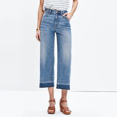 Wide-Leg Crop Jeans: Drop-Hem Edition : wide-leg jeans & flares   Madewell
