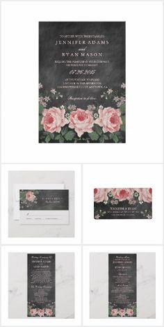 c2ba643e9a Chalkboard Floral Wedding Suite