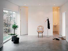 betonggolv samtliga rum, även badrum - se golvdesign