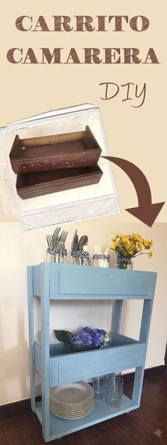 Como hacer un carrito camarera económico   ·   Via www.sweethings.net
