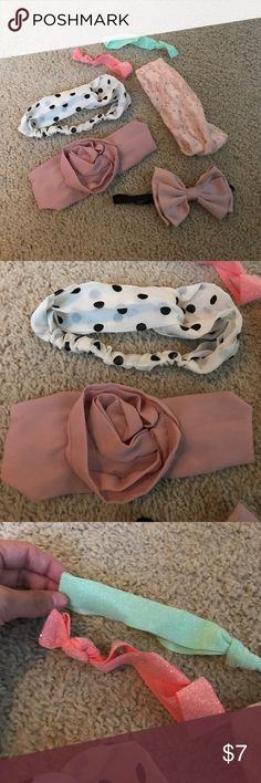 Head band bundle Bundle of 6 head bands. all never worn. Forever 21 Accessories Hair Accessories