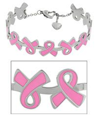 Stainless+Steel+Pink+Ribbon+Cuff+Bracelet+at+The+Breast+Cancer+Site