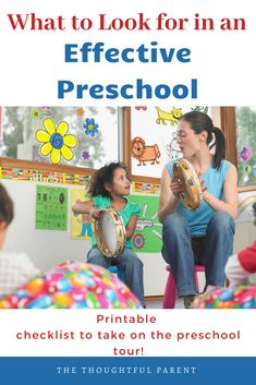 Choosing the right preschool for your child can be challenging. This preschool tour checklist helps parents know what to look for and how to choose the right preschool. Preschool Checklist, Preschool Learning Activities, Preschool Education, Play Based Learning, Learning Through Play, Toddler Preschool, Kids Learning, Toddler Chores, Teaching Kindergarten