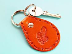 Click To Shop Now – Handmade Leather Keyring, Leather Keychain, Why not check out my Etsy shop? #eagle #keyring #leather #keychain #animal #handstamped #birthdaygift #christmasgift Leather Bookmark, Leather Keyring, Leather Gifts, Leather Tooling, Leather Craft, Handmade Leather, Tooled Leather, Leather Anniversary Gift, Great Anniversary Gifts