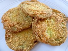 Fried Green Tomatoes  (I don't think my garden tomatoes are ever going to ripen! Maybe I'll just eat them green!)
