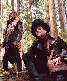 Rumplestiltskin and The Mad Hatter -  what blows me away is that the Mad hatter was also Bucky Barnes in Captain America!
