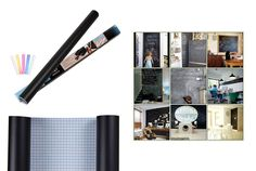 Peel Stick Chalk Board Wall Paper-- A perfect way to style up your home. $10.99