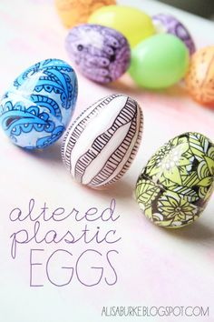 alisaburke: altered plastic eggs
