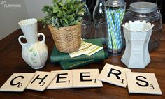 St. Patrick's Day scrabble tile coasters. Easy project and perfect for a St. Pat's day party!