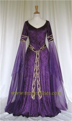 Gowns Pagan Wicca Witch:  Eve a Celtic Elvish Medieval Pagan Wedding #Gown, by frockfollies.