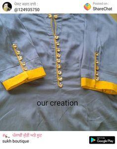 Best 12 Sleeves design – Page 295196950574577506 – SkillOfKing. Chudi Neck Designs, Neck Designs For Suits, Dress Neck Designs, Sleeve Designs, Blouse Designs, Hand Designs, Kurti Sleeves Design, Sleeves Designs For Dresses, Kurta Neck Design