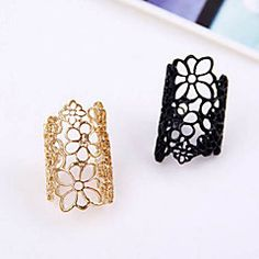 Women's Statement Rings Adjustable Open European Costume Jewelry Lace Alloy Jewelry For Party Casual