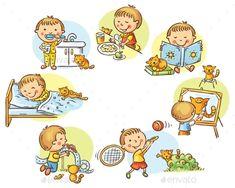 Little Boy's Daily Activities