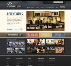 a cool website we did for our friends at praise fm church graphic designweb