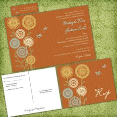 Sunflower and Birds Custom Wedding Invitation by InvitingMoments, $3.00