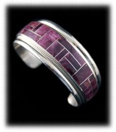 Purple Spiny Oyster Inlaid American Indian Bracelet