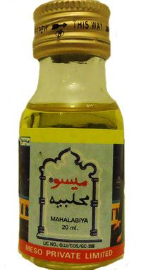 Mahalabiya oil  Makes henna darker on the skin.  Mix with the henna paste or put directly on the skin before or after henna.    20 ml.