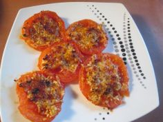 Baked cheesy tomatoes | Recipe from Aunt Barb's Kitchen
