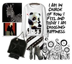 """""""Panda"""" by psicomayte30 ❤ liked on Polyvore featuring FAUSTO PUGLISI, Luichiny and STELLA McCARTNEY"""