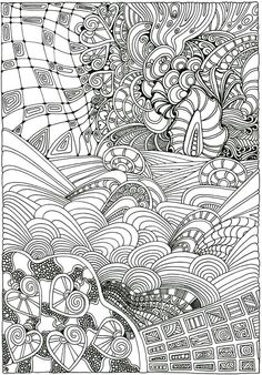 Doodle Coloring Mandala Kids Book Pages For
