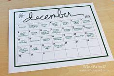 elf on the shelf 2013 calendar - Google Search