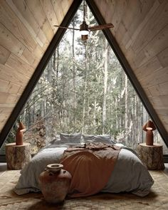 A Frame Cabin, A Frame House, Tiny House Cabin, Cabin Homes, Tiny Homes, Decoration Design, Deco Design, Cabin Design, House Design