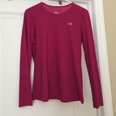 Under Armour dry fit Magenta Under Armour dry fit long sleeve. Size M. Under Armour Tops Tees - Long Sleeve