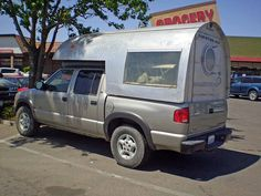 international airstream cabover camper   Looks homemade to m…   Flickr
