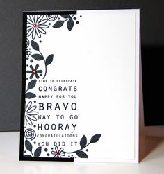 I always appreciate a beautifully stamped card! Amusing Michelle: Runway Inspired #34