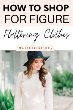 How to shop for figure flattering outfits with these fashion style tips. #fashiontrends #fashionstyle #styletips