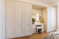 Stylish Fitted Bedroom Furniture Offering High Utility - Interior Design Ideas & Home Decorating Inspiration - moercar Wardrobe Design Bedroom, Closet Bedroom, Home Bedroom, Bedroom Decor, Closet Paint, Bedroom Storage, Bedroom Ideas, Closet Wall, Ikea Wardrobe