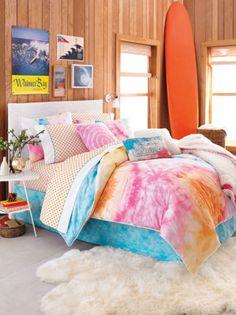 Colourful beach themed bedroom!