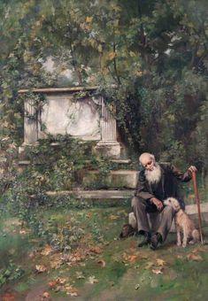 Beatrice Offor, Graveyard Scene, c. 1886-1917