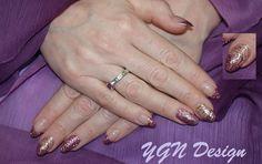 Metallic Filligree nailart